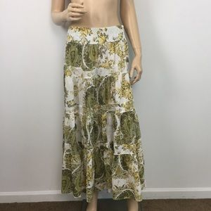 Tapemeasure Tiered Paisley Floral Maxi Skirt 6